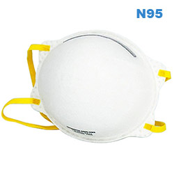 N95 Disposable Respirator Molded Face Mask 1pc