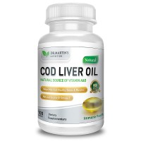 Dr. Martin's COD LIVER OIL Natural Source Of Omega 3, Triple Strength  Best Immune Health, Healthy Bones & Muscles - USA